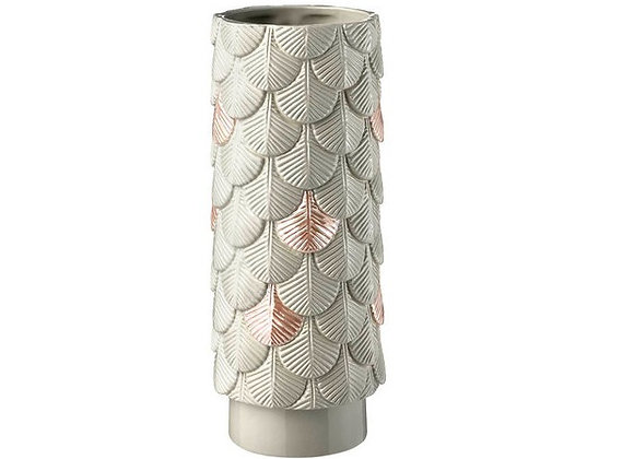 Grey and Pink Plumage Vase by Botteganove