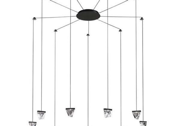 Tripla 7-Light Pendant Lamp by Fabbian