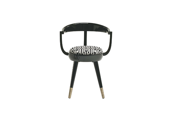 Galleon Black Chair by Fratelli Boffi