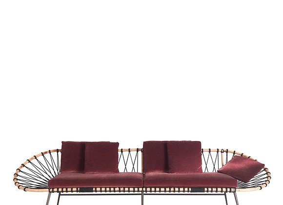 Discovery Red Oval Sofa by Zanaboni Edizioni