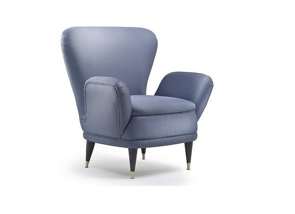 Piera Blue Armchair by Fratelli Boffi
