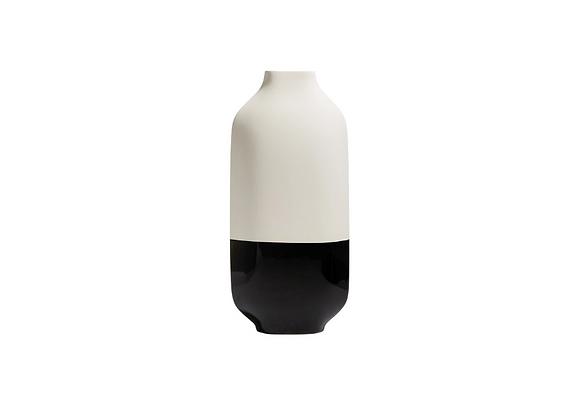 Tall Palma Black & White Vase by Kose Milano