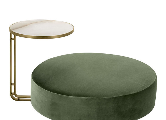 Febe Set of Green Pouf and a Small Table by Domingo Salotti