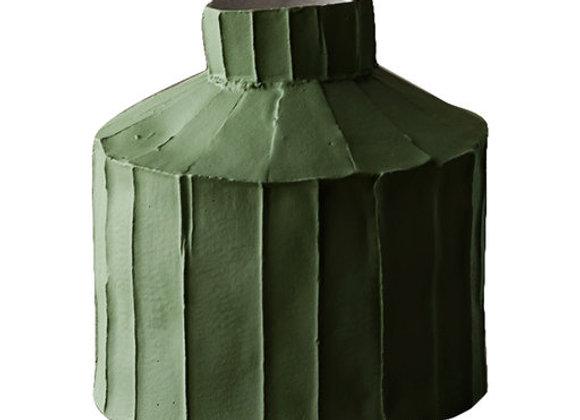 Cartocci Corteccia Fide Moss Green Vase by Paola Paronetto