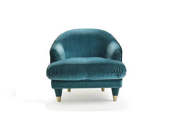 Century Club Armchair Blue by Fratelli Boffi