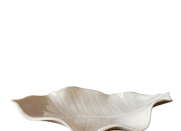 Rubber Tea Leaf White-Poche by White Porcelain Florence
