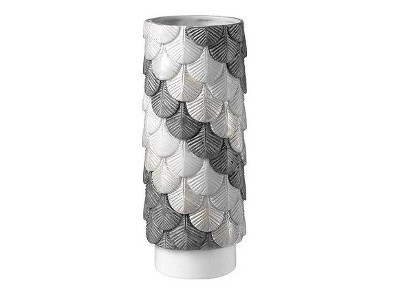Grey & Silver Plumage Vase by Botteganove