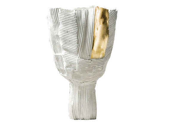 Tulipano White & Gold Footed Centrepiece by Paola Paronetto