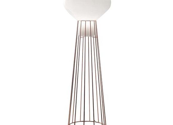 Aerostat Copper Floor Lamp by Fabbian