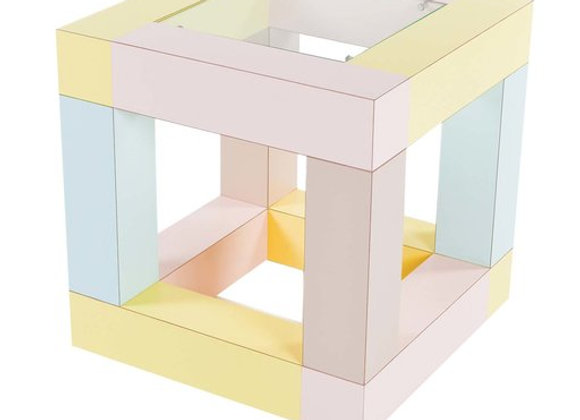 Mimosa Side Table by Ettore Sottsass by Memphis Milano