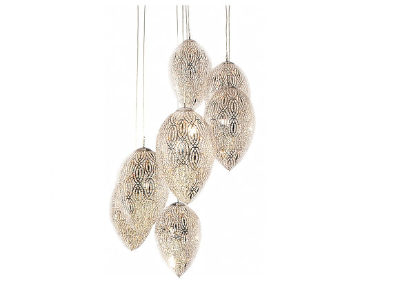 Arabesque Egg Cluster Chandelier With 7 Lamps by VG New Trend