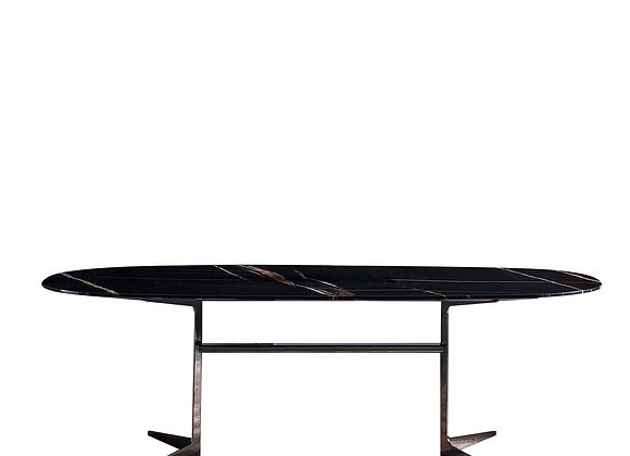 Black Oval Dining Table by Bodema Table