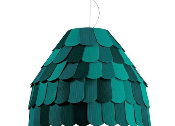 Roofer Green Pendant Lamp by Fabbian