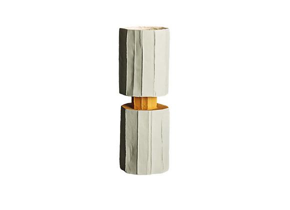 Safa Mono White & Yellow Vase by Paola Paronetto
