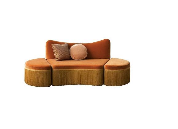 Wave Orange 3-Piece Sofa by Chiara Provasi #3
