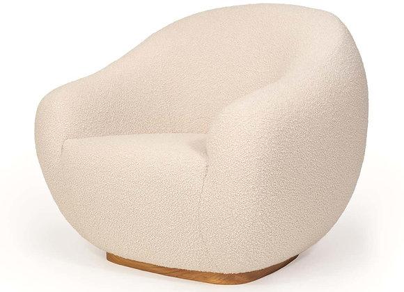 Niemeyer II Armchair, Bouclé and Oak by InsidherLand