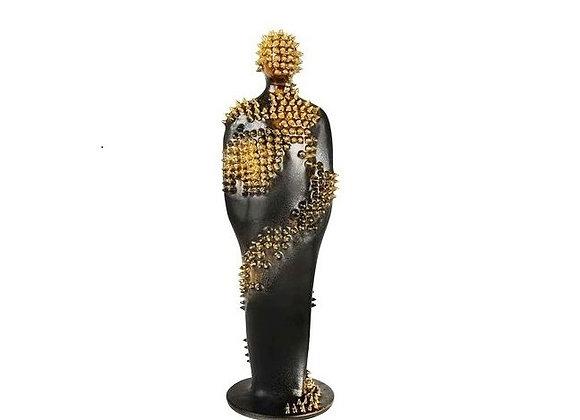 Standing Man Yellow Sculpture by Bottega Del Monaco