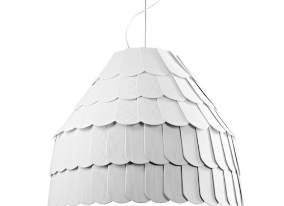 Roofer White Pendant Lamp by Fabbian