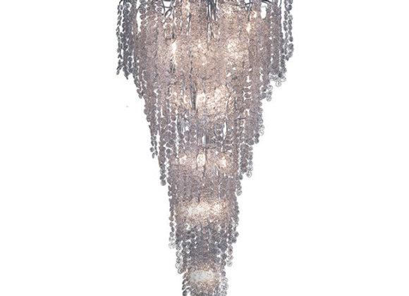 Stardust Long Silver Chandelier by Stillux