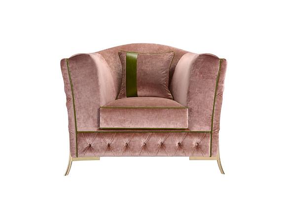 Nafele Pink Armchair by Domingo Salotti