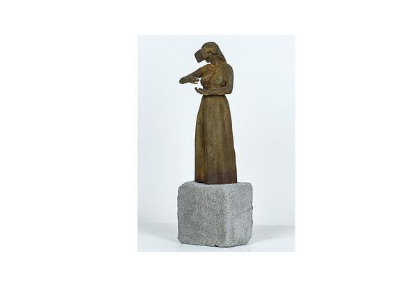 Addolorata Concezione Concrete Sculpture by Federico Clapis