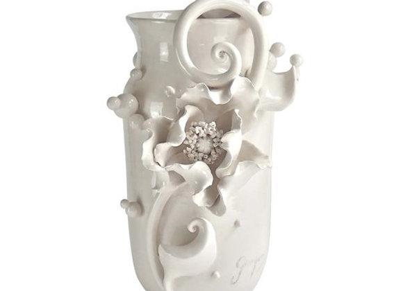The White Poppy Vase The White Symphony by Alberto Giampieri