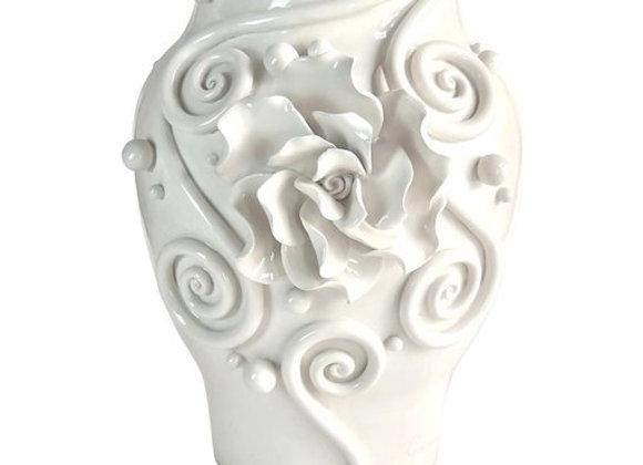 Big Babool Vase The White Symphony by Albeto Giampieri