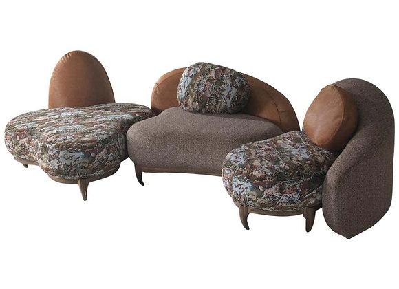 3-Set Modular Sofa by Fratelli Boffi