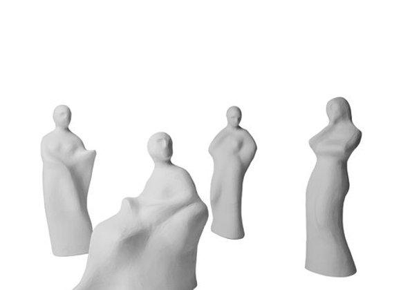 Tangre Set of Four Sculptures by Bottega Del Monaco