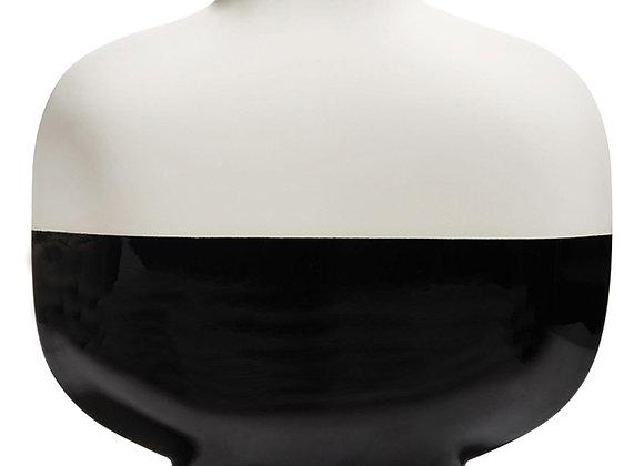 Short Palma Black and White Vase by Kose Milano