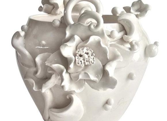 Poppies & Bubbles Vase The White Symphony Connection by Alberto Giampieri