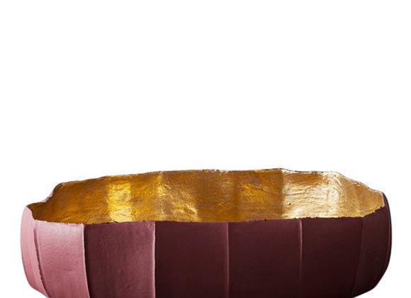 Cartocci  Ninfea Purple And Gold Bowl by Paola Paronetto