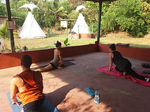tipi garden affordable luxury yoga holidays retreats resort rooms kudle beach gokarna india www.blueplanetretreats.com