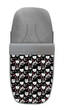 Saco mapache negro-rojo
