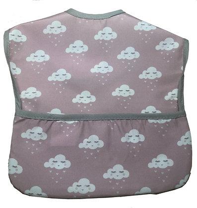 Babero nube corazón rosa