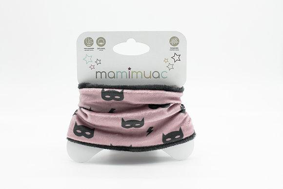 Cuello pelo máscara rosa