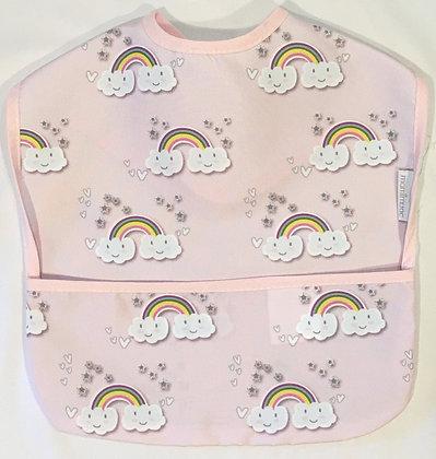 Babero arcoiris rosa