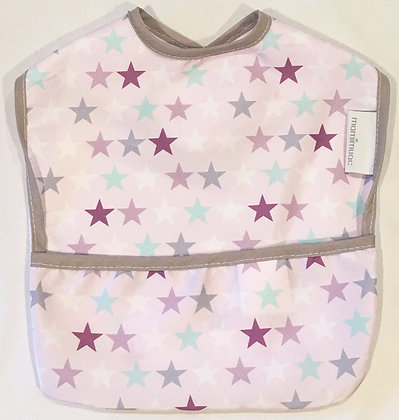 Babero estrella rosa