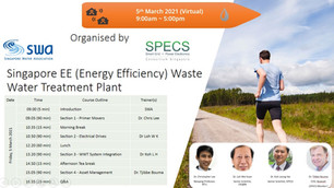 Industrial Energy Efficiency for Waste Water Treatment Plants in Singapore