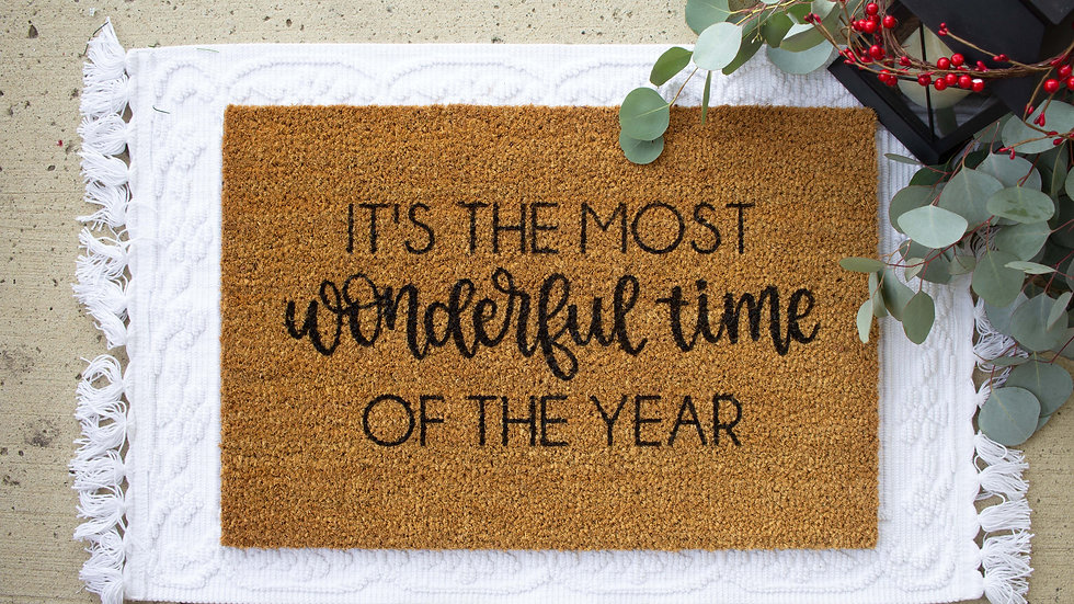 It's the Most Wonderful Time Doormat