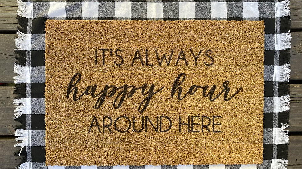 It's Always Happy Hour Doormat