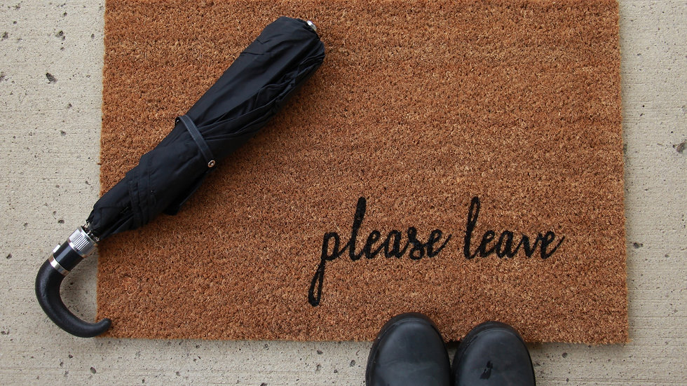 Please Leave Doormat