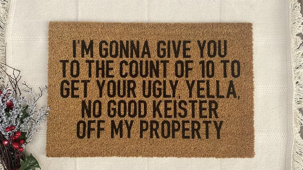 No Good Keister Doormat