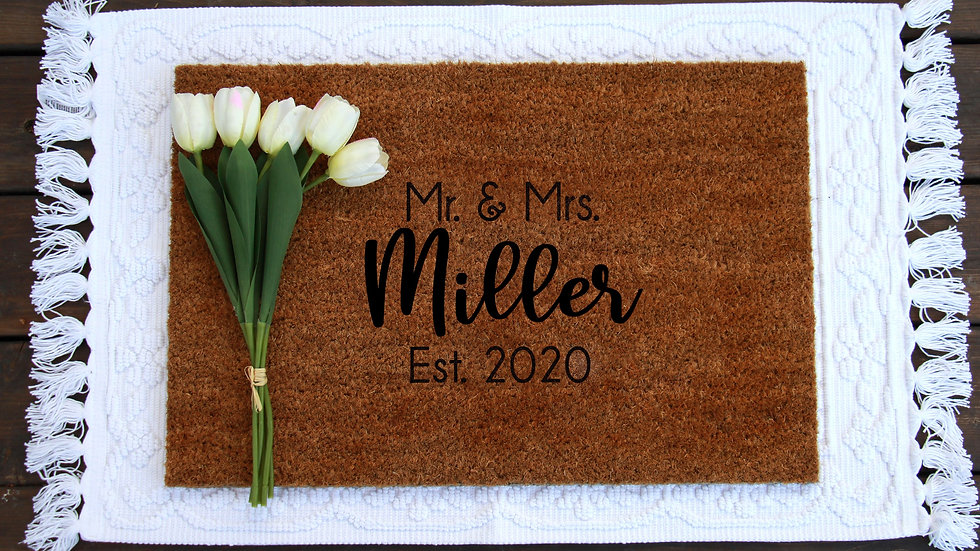 Mr & Mrs Mat -Personalized