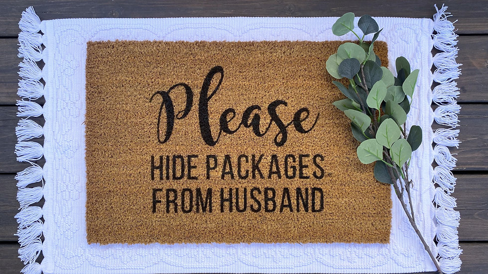 Please Hide Package Doormat