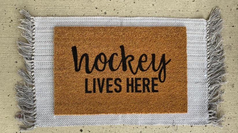 Hockey Lives Here Doormat