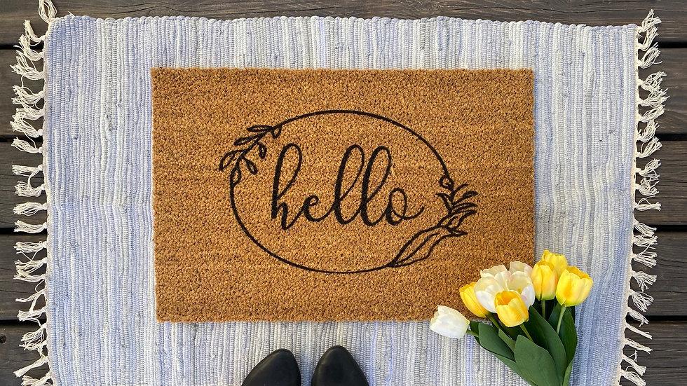 Hello Floral Doormat