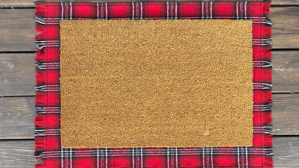 Red Plaid Layering Mat - Regular