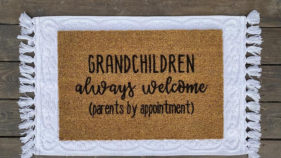 Grandchildren Always Welcome Doormat