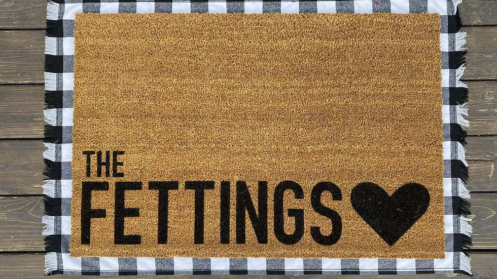 Adorably Modern Personalized Doormat